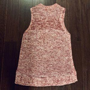 LOFT Sweaters - LOFT Red Knit Sleeveless Sweater Top